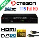 OCTAGON SF-118 Full-HD HDTV + HDMI Kabel Digital Sat Receiver